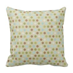 American MOJO pillow with our Checks and Dots design, one side being dots and the other side checkered! #mojo #peacockcards #decorative #decor #living #room #blue #dotted #polka #dots #checks #checkered
