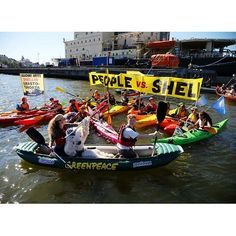 #helsinkivsshell #savethearctic #noarcticdrilling #shellno #arctiashippinghäpeä #fennicatakaisinsuomeen Flotilla in Helsinki against arctic drilling in front of the headquarters of Arctia Shipping. Finnish icebreakers Fennica & Nordica are assisting Shell in Chukchi and Beaufort seas and they need to return home immediately. Photo by Jonne Sippola