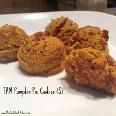 THM Pumpkin Pie Cookies- nut free & dairy free, low carb, and delish! I put this with essential oils because I used diluted cinnamon oil diluted before I dropped in to mixture into some coconut oil. Trim Healthy Recipes, Trim Healthy Momma, Pumpkin Recipes, Low Carb Recipes, Cooking Recipes, Healthy Food, Kitchen Recipes, Free Recipes, Dairy Free Pumpkin Pie