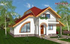 proiecte de case cu semineu House plans with fireplaces 11 Luxury House Plans, Dream House Plans, Glass Brick, Blue Ceilings, Design Case, Second Floor, Home Accents, Decor Styles, House Design