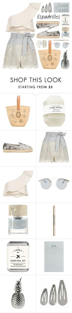 """step into summer: espadrilles"" by jesuisunlapin ❤ liked on Polyvore featuring Ermanno Scervino, Kanna Shoes, Zimmermann, Aquazzura, Forever 21, Smith & Cult, Lord & Berry, The Mason Shaker and Pols Potten"