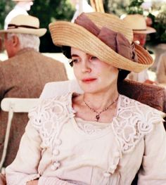 Downton Hat Lady Cora in a straw breton via Kate Grover