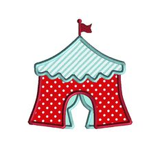 Circus Tent Applique Machine Embroidery by SewChaCha on Etsy