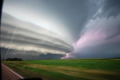 A storm that produced 8-inch diameter hailstones bears down on Vivian, South Dakota July 23, 2010. (Chad Cowan) #
