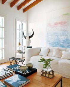 light + airy modern living room