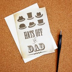 In a pickle for a last minute unique Father's Day Card that isn't store bought? Enjoy this free printable! Hats off to Dad!
