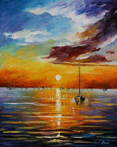 Resting With The Sun ~ Leonid Afremov