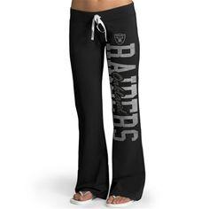 '47 Brand Oakland Raiders Womens Black Pep Rally Pants