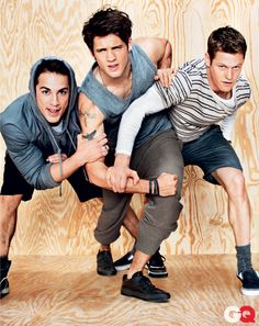 The guys of The Vampire Diaries in T by Alexander Wang (GQ, March 2011; photo: Ben Watts).