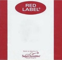 Super Sensitive Red Label 3/4 Size Cello Strings