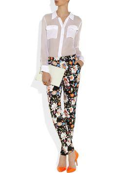 Etro | Floral-print crepe slim-leg pants