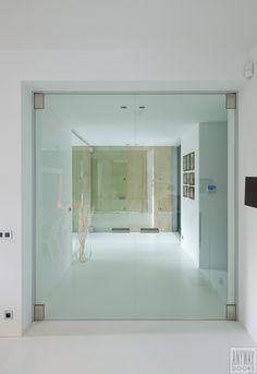 dubbele glazen deur in helder gehard glas