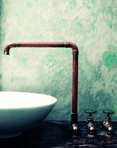 Industrial Sink | Exposed Plumbing | Plumbing Fixture | Rustic Bath | Industrial Design | Bathroom