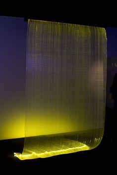 """Exposition """"Illuminations"""" By Elizabeth_Leriche- Rideau fibre optique Astrid Krogh Maison & Objet Septembre 2013 -"""