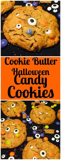 Cookie Butter Halloween Candy Cookies #mms #cookiebutter #halloween