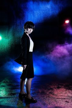 Tsunemori Akane | Psycho-Pass #anime #cosplay http://www.trustedeal.com/Psycho-Pass-Dominator-Red-And-Green-Double-Light-Cosplay-Gun-Accessory_p170186.html