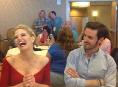 TV After Dark : #OnceUponATime far far away in #SDCC we instantly became Hook-ed. Apparently so was this other cast member