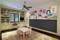 New house, playroom- do the chalkboard wall