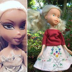 Anya rescued doll upcycled bratz doll by DandelionThread on Etsy