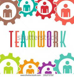 Teamwork gear people background.  - stock photo