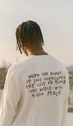 When the power of love overcomes the power of power, the world will know peace Rap Wallpaper, Aesthetic Iphone Wallpaper, Aesthetic Wallpapers, Bedroom Wall Collage, Photo Wall Collage, The Words, Mood Quotes, Life Quotes, Travis Scott Wallpapers