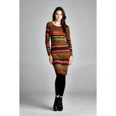 2015 Winter and Fall Striped Sweater Dress. Fall Sweater Dress Great fabric and a must-have, knit sweater, come insizes small to large