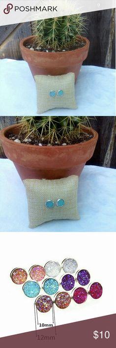 3/$20 Druzy Earrings NWT. Druzy earrings in baby blue crystals Jewelry Earrings