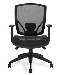 Check out our review of the Offices To Go 2821 model mesh back office chair here: http://blog.officeanything.com/2016/02/office-chair-review-offices-to-go-2821.html