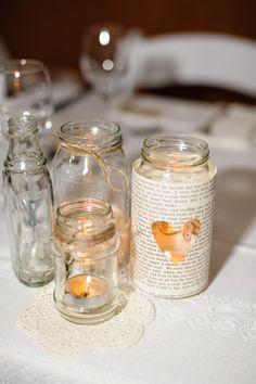 Jar Votives | See the wedding on SMP - http://www.StyleMePretty.com/australia-weddings/queensland-au/brisbane/2014/01/08/bundaleer-rainforest-gardens-wedding/ Andrea Sproxton Photography