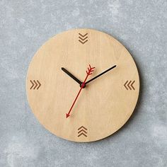 'heritage clock' available from westelm