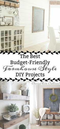 You need to check out these easy and affordable DIY projects! They are perfect for getting the Fixer Upper look.