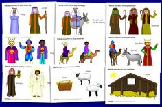 print and cut nativity