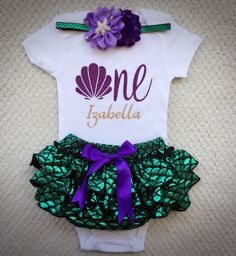 Mermaid outfit/Fish scale bloomers/Little by BabyTrendzz on Etsy