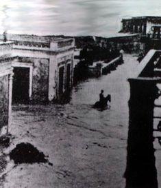 Inundación- Arecibo  Ocasionada por huracan San Ciriaco 1899