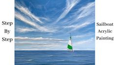 Adult Coloring, Coloring Books, Paint Strokes, Acrylic Painting Tutorials, Step By Step Painting, Learn To Paint, Canvas Artwork, Sailboat, Amazing Art