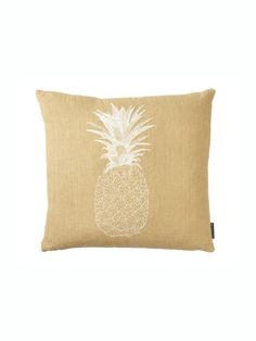 Designed by Melissa Wyndham, each of Fine Cell Work's Pineapple Cushions requires 100 hours of stitchwork to produce.Embroidery on 100% linen.  Dry clean only.Dimensions: 50 cms x 50cms.Required lead time is 2 weeks.This cushion cover is sold without the fill.