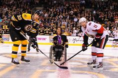 Victoria Arlen (@Arlenv1) dropped the ceremonial first puck at TD Garden on April 2nd, 2013.