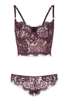 Lace Lingerie Set - Topshop USA