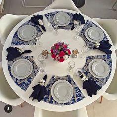 Não conhecia esse modelo para mesa redonda, achei interessante e criativo ❤️ Font