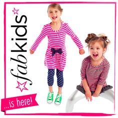 I'd like to invite you to join FabKids, a fashion club with endless outfit combinations for stylish kids sizes 2-12. You should definitely check it out and if you sign up today, you can get 50% off your first outfit!