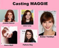 """Our manic pixie girl deserves speialc treatment. I couldn't find just 3 casting choices for her but 5. From #nerdprincess #feliciaday, to former #joanofarcadia #ambertmablyn, to #littlemermaid #joannagarcia to #uglystepsister and#buffy guest star and a personal favorite #azuraskye to talented @Jane Levy. All of them have many of the traits and the looks I found in William's """"sister"""""""