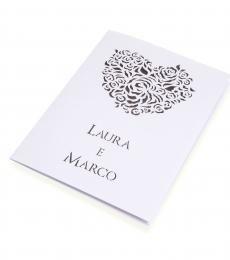Libretto messa Cuore. Romanticismo ed eleganza.   http://www.partecipazioniconstile.it/it/libretto-messa/libretto-messa-cuore