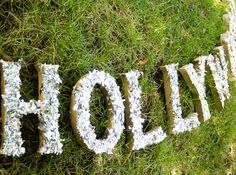 DIY Hollywood sign by Soleil Moonfrye