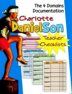 Charlotte Danielson Teacher Checklists: Documenting The Fo