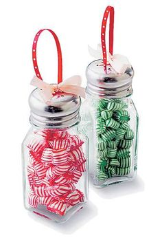 Kitchen Salt and Pepper Shaker Christmas Ornaments