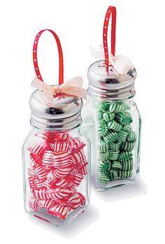 Kitchen Salt and Pepper Shaker Christmas Ornaments