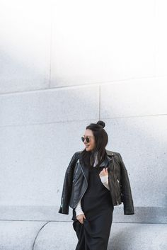 AllSaints Papin Leather Jacket