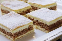Juhoslovanský krémeš | NejRecept.cz Baked Goods, Tiramisu, Sweet Tooth, Cheesecake, Deserts, Food And Drink, Easy Meals, Dessert Recipes, Sweets