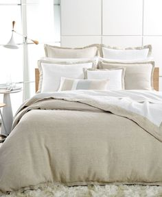 Hotel Collection Linen Natural Queen Duvet Cover - Bedding Collections - Bed & Bath - Macy's