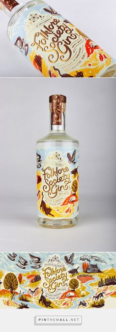 Check Out The Whimsically Colorful Packaging For Folklore Society Gin — The Dieline | Packaging & Branding Design & Innovation News - created via https://pinthemall.net
